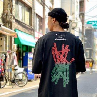 【LEFLAH】G-spray logo gradation tee