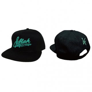 <img class='new_mark_img1' src='https://img.shop-pro.jp/img/new/icons1.gif' style='border:none;display:inline;margin:0px;padding:0px;width:auto;' />【LEFLAH】Script logo snap back cap(BLK)
