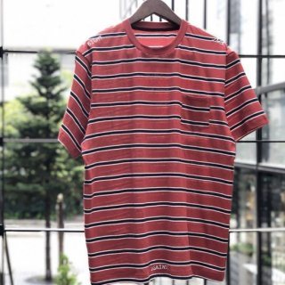 <img class='new_mark_img1' src='https://img.shop-pro.jp/img/new/icons1.gif' style='border:none;display:inline;margin:0px;padding:0px;width:auto;' />【LEFLAH】pocket border Tee(RED)