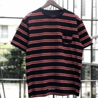 <img class='new_mark_img1' src='https://img.shop-pro.jp/img/new/icons1.gif' style='border:none;display:inline;margin:0px;padding:0px;width:auto;' />【LEFLAH】pocket border Tee(BLK)