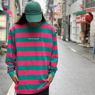 <img class='new_mark_img1' src='https://img.shop-pro.jp/img/new/icons1.gif' style='border:none;display:inline;margin:0px;padding:0px;width:auto;' />【LEFLAH】embroidery border long tee(PNK/GRN)