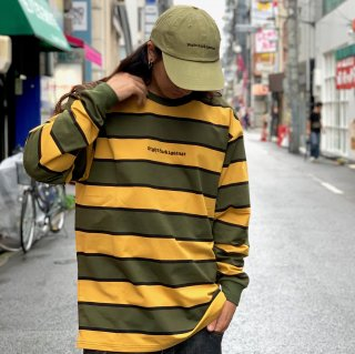 <img class='new_mark_img1' src='https://img.shop-pro.jp/img/new/icons1.gif' style='border:none;display:inline;margin:0px;padding:0px;width:auto;' />【LEFLAH】embroidery border long tee(KAH/YEL)