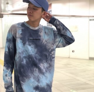 <img class='new_mark_img1' src='https://img.shop-pro.jp/img/new/icons1.gif' style='border:none;display:inline;margin:0px;padding:0px;width:auto;' />【LEFLAH】tie dye long tee(BLU)