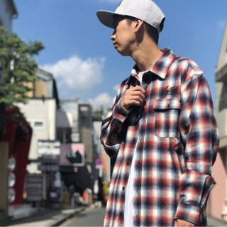 【LEFLAH】 flannel check shirt(RED)