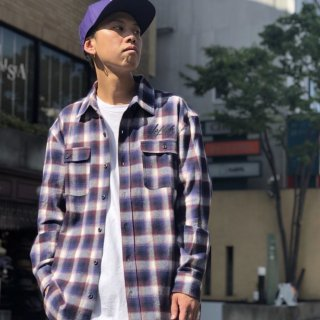 【LEFLAH】 flannel check shirt(BRW)