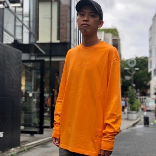 【LEFLAH】embroidery color long tee(ORG)