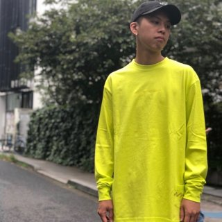 【LEFLAH】embroidery color long tee(YEL)