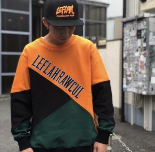 【LEFLAH】brace switch sweat(ORG)