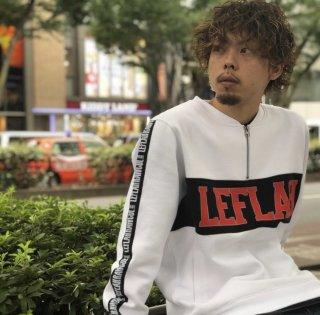 【LEFLAH】zip henry  sweat(WHT)
