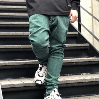 【LEFLAH】color chemical skinny denim(BLK)