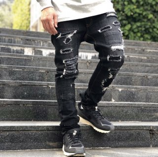 <img class='new_mark_img1' src='https://img.shop-pro.jp/img/new/icons1.gif' style='border:none;display:inline;margin:0px;padding:0px;width:auto;' />【LEFLAH】Hard repair skinny denim(BLK)
