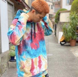 【LEFLAH】tie-dye parka(RED)