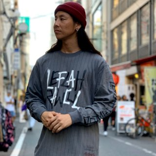 【LEFLAH】G-spray stripe long tee(CHA-ST)