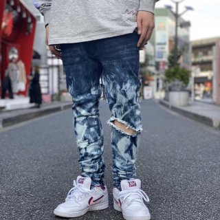 <img class='new_mark_img1' src='https://img.shop-pro.jp/img/new/icons1.gif' style='border:none;display:inline;margin:0px;padding:0px;width:auto;' />【LEFLAH】chemical damage skinny denim(BLU)
