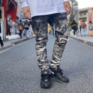 <img class='new_mark_img1' src='https://img.shop-pro.jp/img/new/icons1.gif' style='border:none;display:inline;margin:0px;padding:0px;width:auto;' />【LEFLAH】chemical damage skinny denim(BLK)