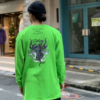 <img class='new_mark_img1' src='//img.shop-pro.jp/img/new/icons1.gif' style='border:none;display:inline;margin:0px;padding:0px;width:auto;' />【LEFLAH】tiger long tee(GRN)