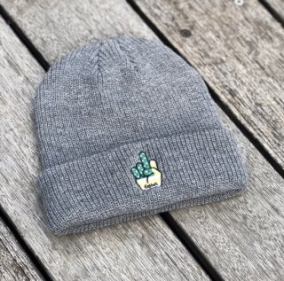 <img class='new_mark_img1' src='https://img.shop-pro.jp/img/new/icons1.gif' style='border:none;display:inline;margin:0px;padding:0px;width:auto;' />【LEFLAH】finger knit cap(GRY)