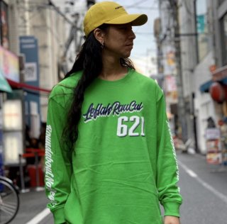 <img class='new_mark_img1' src='https://img.shop-pro.jp/img/new/icons1.gif' style='border:none;display:inline;margin:0px;padding:0px;width:auto;' />【LEFLAH】621script logo long tee(GRN)