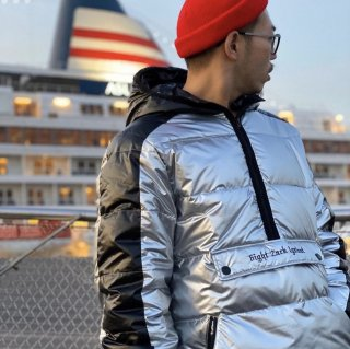 <img class='new_mark_img1' src='//img.shop-pro.jp/img/new/icons1.gif' style='border:none;display:inline;margin:0px;padding:0px;width:auto;' />【LEFLAH】Pullover down jacket(SILVER)