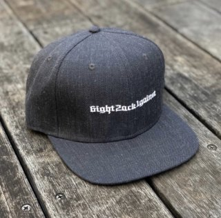 【LEFLAH】old-E snap back cap(DGRY)