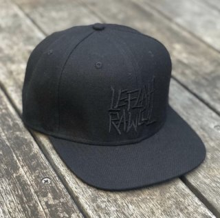【LEFLAH】G-spray snap back cap(BLK/BLK)