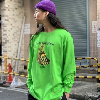 <img class='new_mark_img1' src='https://img.shop-pro.jp/img/new/icons1.gif' style='border:none;display:inline;margin:0px;padding:0px;width:auto;' />【LEFLAH】dig up long tee(GRN)