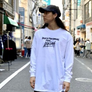 【LEFLAH】blood logo long tee(WHT)
