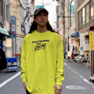 <img class='new_mark_img1' src='https://img.shop-pro.jp/img/new/icons2.gif' style='border:none;display:inline;margin:0px;padding:0px;width:auto;' />【LEFLAH】blood logo long tee(S-GRN)