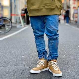 【LEFLAH】hard bleach skinny denim(BLU)