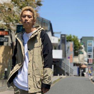 【LEFLAH】taslan nylon mountain jacket(BEG)