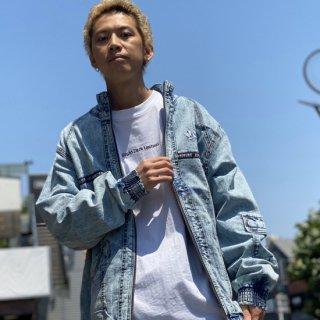 <img class='new_mark_img1' src='https://img.shop-pro.jp/img/new/icons2.gif' style='border:none;display:inline;margin:0px;padding:0px;width:auto;' />【LEFLAH】chemical wash denim jacket(WHT)