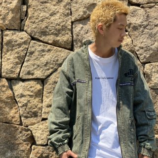 <img class='new_mark_img1' src='https://img.shop-pro.jp/img/new/icons2.gif' style='border:none;display:inline;margin:0px;padding:0px;width:auto;' />【LEFLAH】chemical wash denim jacket(GRN)