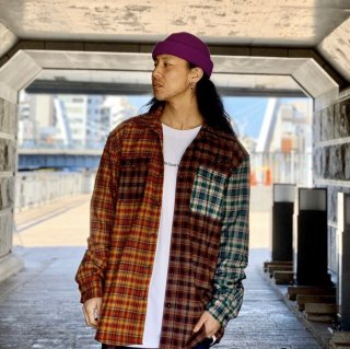 【LEFLAH】multicolor checked shirts(ORG)