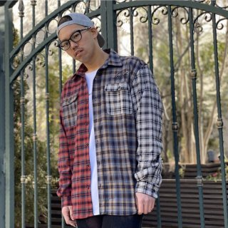 【LEFLAH】multicolor checked shirts(RED)