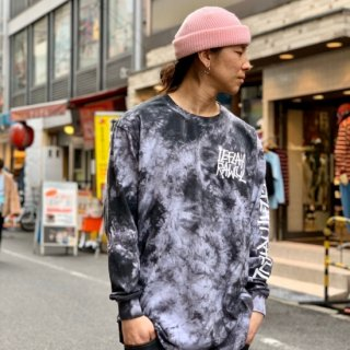 <img class='new_mark_img1' src='https://img.shop-pro.jp/img/new/icons1.gif' style='border:none;display:inline;margin:0px;padding:0px;width:auto;' />【LEFLAH】G-spray logo tie dye long tee(WHT)