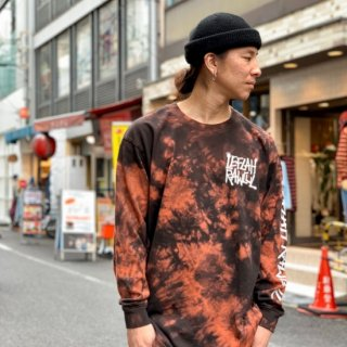 <img class='new_mark_img1' src='https://img.shop-pro.jp/img/new/icons1.gif' style='border:none;display:inline;margin:0px;padding:0px;width:auto;' />【LEFLAH】G-spray logo tie dye long tee(ORG)