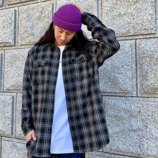 <img class='new_mark_img1' src='https://img.shop-pro.jp/img/new/icons1.gif' style='border:none;display:inline;margin:0px;padding:0px;width:auto;' />【LEFLAH】check flannel shirt(BLK)
