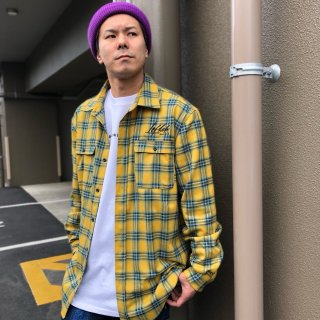 <img class='new_mark_img1' src='https://img.shop-pro.jp/img/new/icons1.gif' style='border:none;display:inline;margin:0px;padding:0px;width:auto;' />【LEFLAH】check flannel shirt(YEL)