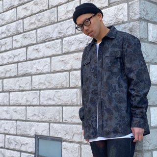 【LEFLAH】flower pattern shirt(BLK)