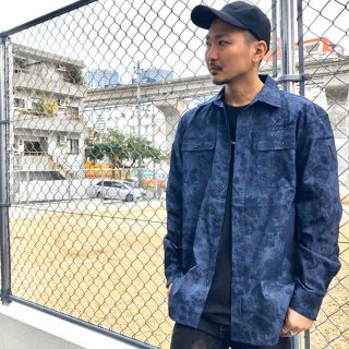 【LEFLAH】flower pattern shirt(NVY)