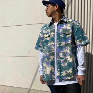 <img class='new_mark_img1' src='https://img.shop-pro.jp/img/new/icons1.gif' style='border:none;display:inline;margin:0px;padding:0px;width:auto;' />【LEFLAH】color tie dye shirt(PPL)