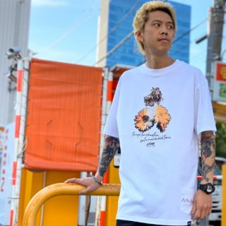 【LEFLAH】beat a march tee(WHT)