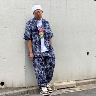 <img class='new_mark_img1' src='https://img.shop-pro.jp/img/new/icons1.gif' style='border:none;display:inline;margin:0px;padding:0px;width:auto;' />【LEFLAH】paisley pattern easy pants(NVY)