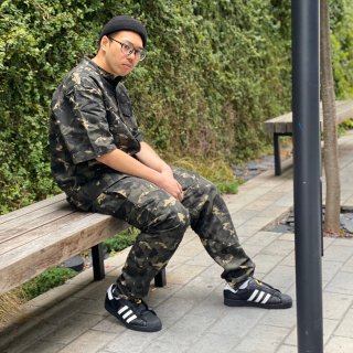 <img class='new_mark_img1' src='https://img.shop-pro.jp/img/new/icons1.gif' style='border:none;display:inline;margin:0px;padding:0px;width:auto;' />【LEFLAH】brush camo easy pants(KAH)