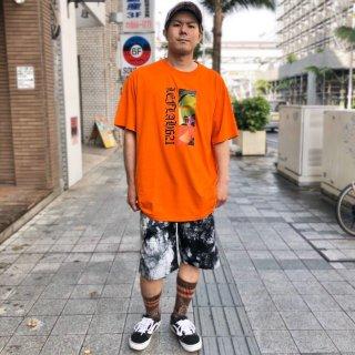【LEFLAH】marble tie dye short pants(WHT)