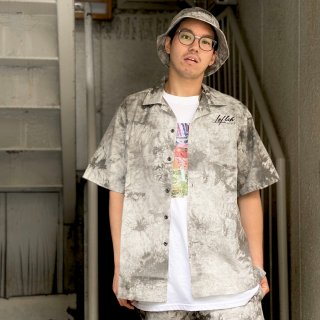 <img class='new_mark_img1' src='https://img.shop-pro.jp/img/new/icons1.gif' style='border:none;display:inline;margin:0px;padding:0px;width:auto;' />【LEFLAH】madara tie dye open collar shirt(WHT)