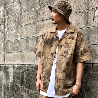 <img class='new_mark_img1' src='https://img.shop-pro.jp/img/new/icons1.gif' style='border:none;display:inline;margin:0px;padding:0px;width:auto;' />【LEFLAH】madara tie dye open collar shirt(BRW)