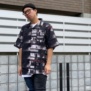 <img class='new_mark_img1' src='https://img.shop-pro.jp/img/new/icons1.gif' style='border:none;display:inline;margin:0px;padding:0px;width:auto;' />【LEFLAH】home pattern aloha shirt(BLK)