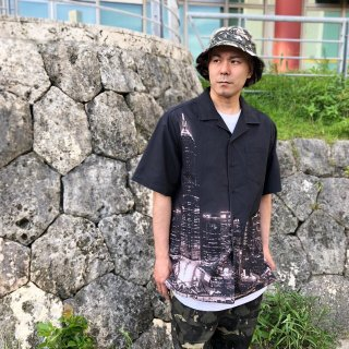 <img class='new_mark_img1' src='https://img.shop-pro.jp/img/new/icons1.gif' style='border:none;display:inline;margin:0px;padding:0px;width:auto;' />【LEFLAH】town pattern aloha shirt(BLK)