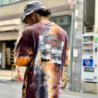 <img class='new_mark_img1' src='https://img.shop-pro.jp/img/new/icons1.gif' style='border:none;display:inline;margin:0px;padding:0px;width:auto;' />【LEFLAH】fire car tie dye tee(ORG)